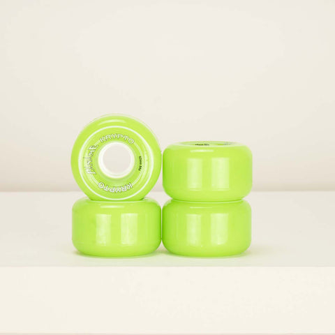 Kryptonics Paname 62mm 84a Roller Skate Wheels -  Green