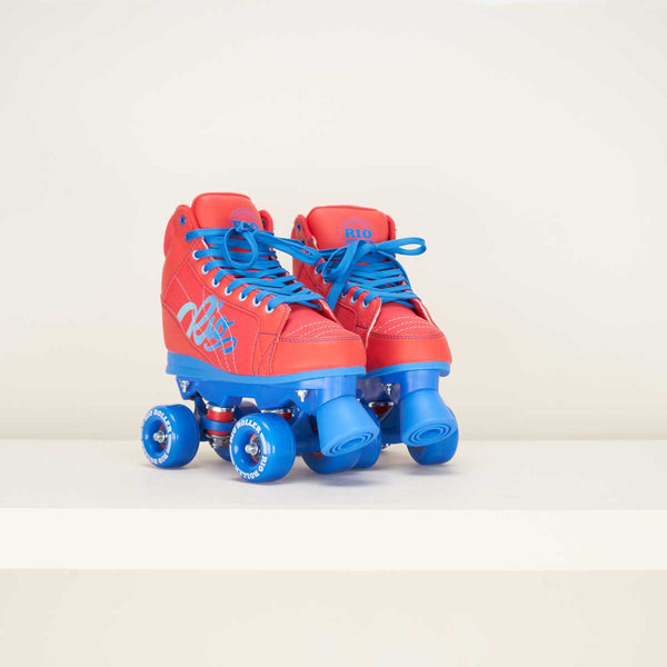 Rio Roller Lumina Quad Skates - Red / Blue