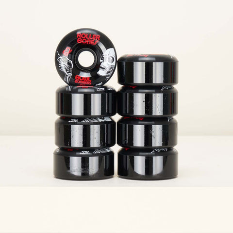 Roller Bones bowl bombers 62mm / 101a wheels 8 pack - Black