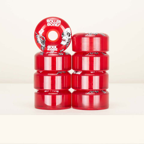 Roller Bones bowl bombers 62mm / 101a wheels 8 pack - Red