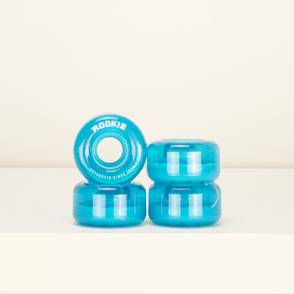 Rookie Disco 58mm Skate Wheels -  Clear Blue