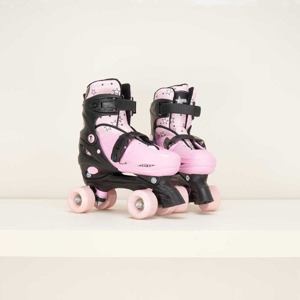 SFR Nebula Junior Adjustable Quad Skates - Pink
