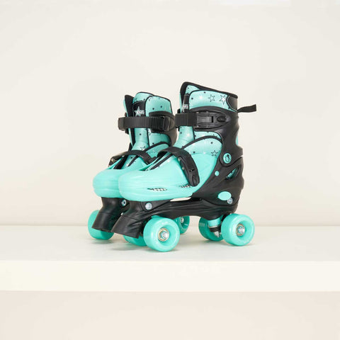 SFR Nebula Junior Adjustable Quad Skates - Green