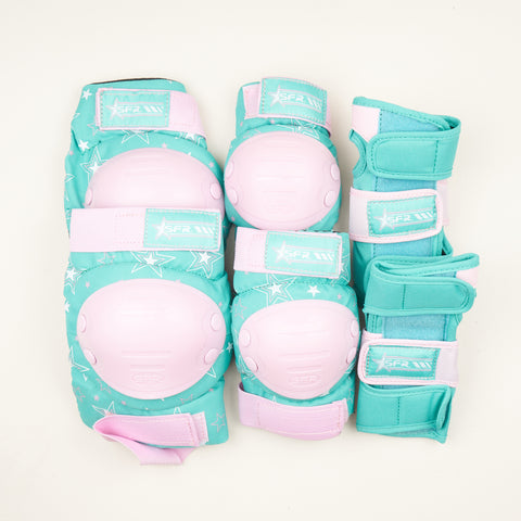SFR Star Triple Pad Set - Pink / Green