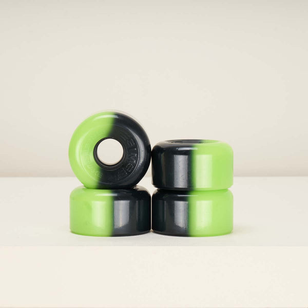 Sims Street Snakes Two Tone Quad Wheels 62mm - Lime Green / Black