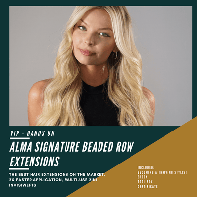Alma Signature Beaded Extensions - Hands On - Luxury Hair extensions, Virgin Brazilian hair, real hair extensions | Alma Hair Extensions