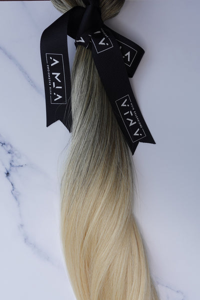 "Alma Blonde - 128 grams - 20"" - Luxury Hair extensions, Virgin Brazilian hair, real hair extensions 
