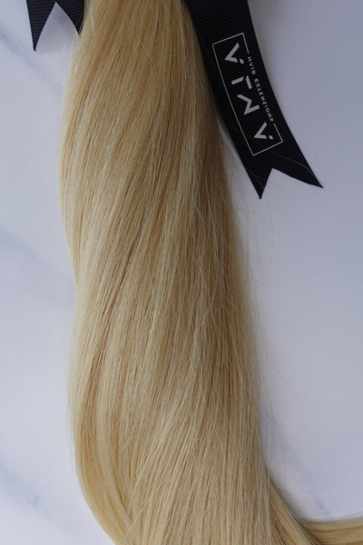 "Alma Blonde - 128 grams - 16"" - Luxury Hair extensions, Virgin Brazilian hair, real hair extensions 