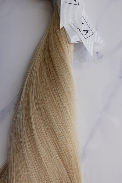 "Alma Blonde - 124 grams - 22"" - Luxury Hair extensions, Virgin Brazilian hair, real hair extensions 