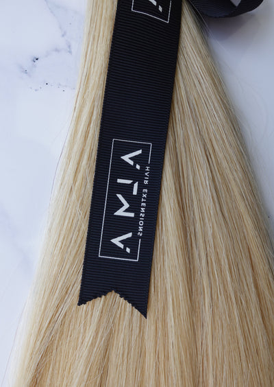 "Alma Blonde - 100 grams - 22"" - Luxury Hair extensions, Virgin Brazilian hair, real hair extensions 
