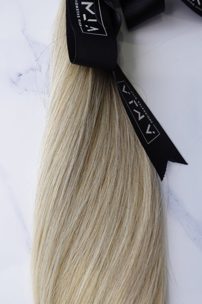 "Alma Blonde - 128 grams - 22"" - Luxury Hair extensions, Virgin Brazilian hair, real hair extensions 