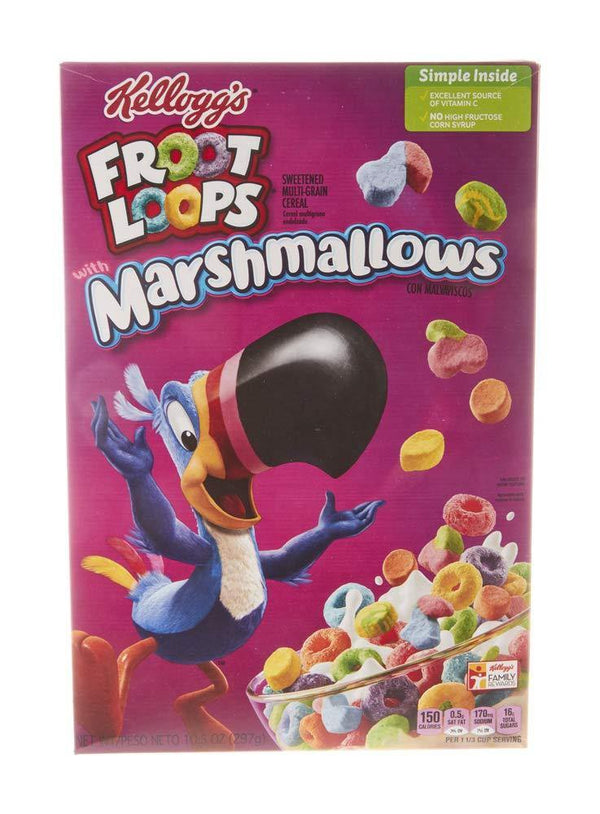 Kellogg's Marshmallows Froot Loops (297 g, Box)-Krave Bites