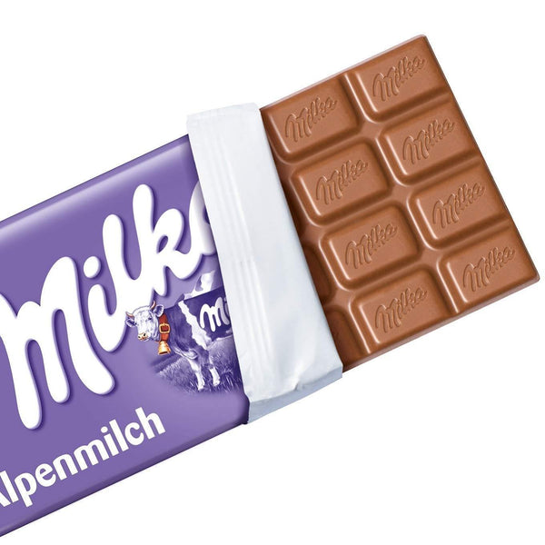 Milka Alpine Milk Chocolate (Imported) 100gm - Krave Bites