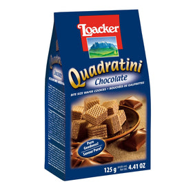 Loacker Quadratini Chocolate, (Imported) 125g Wafers Bars