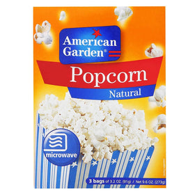 American Garden Microwave Popcorn, Natural, 273g