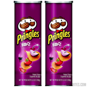 Pringles BBQ Potato Chips, 158g (Pack of 2)