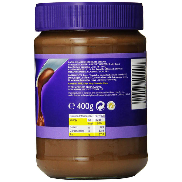 Cadbury Milk Chocolate Spread (Imported) 400 g-Chocolate-Krave Bites-Krave Bites
