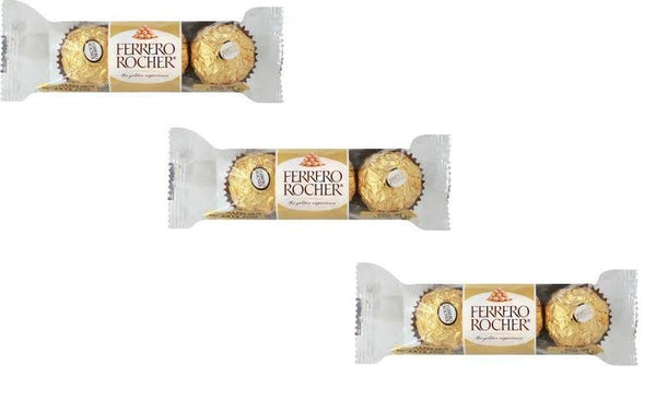 Ferrero Rocher 3 Pcs Imported Chocolate (Pack of 3)-Krave Bites