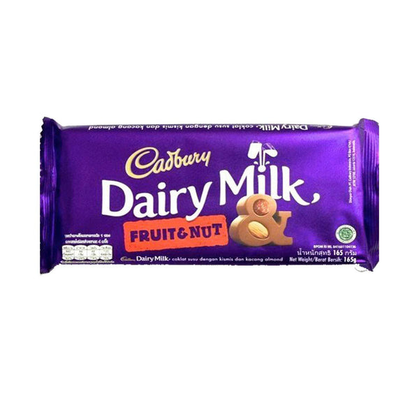 Cadbury Dairy Milk Fruit and Nut Chocolate Bar, 165 g-Chocolate-Krave Bites-Krave Bites
