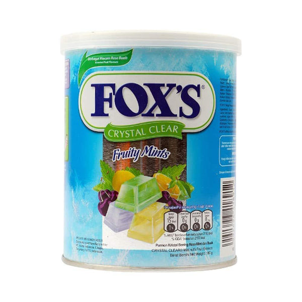 Nestle Fox's Crystal Clear Flavored Candy Tin - Fruits, 180g-Krave Bites