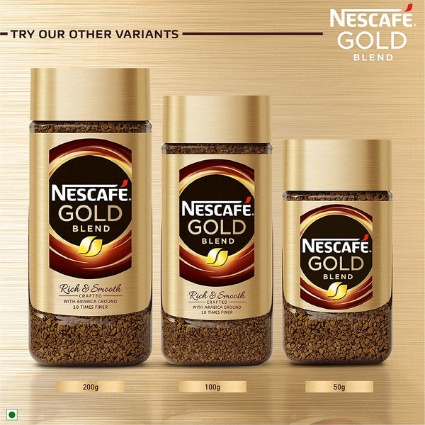 Nescafe Gold Blend Rich and Smooth Instant Coffee Imported (100 g)-Krave Bites