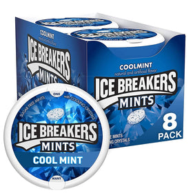 Ice Breakers Coolmint Sugar Free Mints, 42 g (Pack of 8)