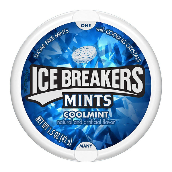 Ice Breakers Coolmint Sugar Free Mints, 42 g-Krave Bites