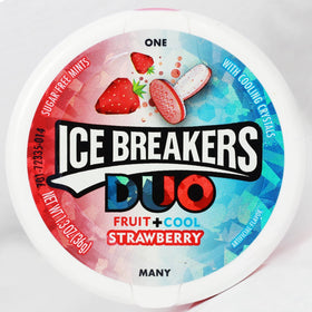 Ice Breaker Duo Fruit + Cool Mints Strawberry Strawberry Mouth Freshener