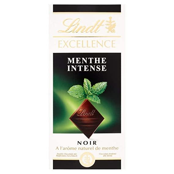 Lindt Excellence Mint Intense Chocolate, 2 x 100 g-Krave Bites