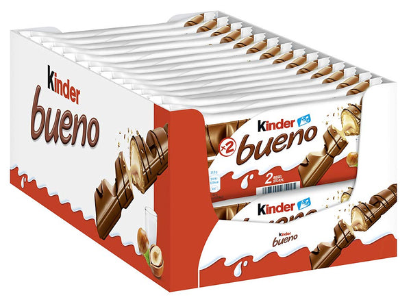 Kinder Bueno Chocolate 2-Bar 43gm (Pack of 30)