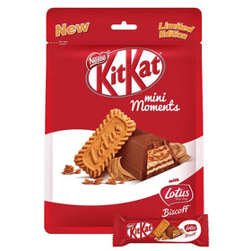 Kitkat Mini Moment with Lotus Biscoff Limited Edition
