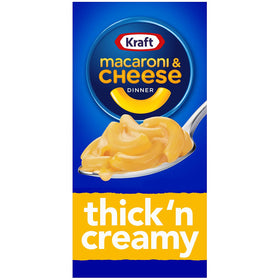 Kraft Macaroni and Cheese Dinner, Thick'n Creamy Pouch, 206 g