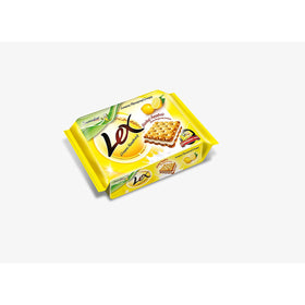 Samudra Lex Cream Sandwich Biscuits Lemon Flavour ( 190 Grams X 3 )