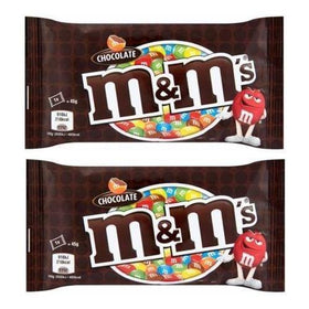 M&M'S Milk Chocolate Candy in Sugar Shell - 45 Grams (Pack Of 2)