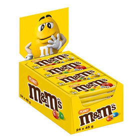 M & M Peanut Milk Chocolate Pouch, 45 gm (Pack Of 24)