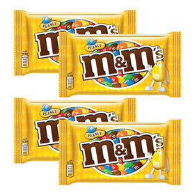 M & M Peanut Milk Chocolate Pouch, 45 gm (Pack Of 4)