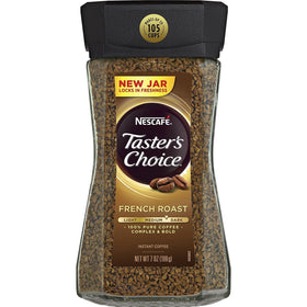 Nescafe Taster's Choice French Roast Medium Dark Complex & Bold Instant Coffee Bottle, 198g