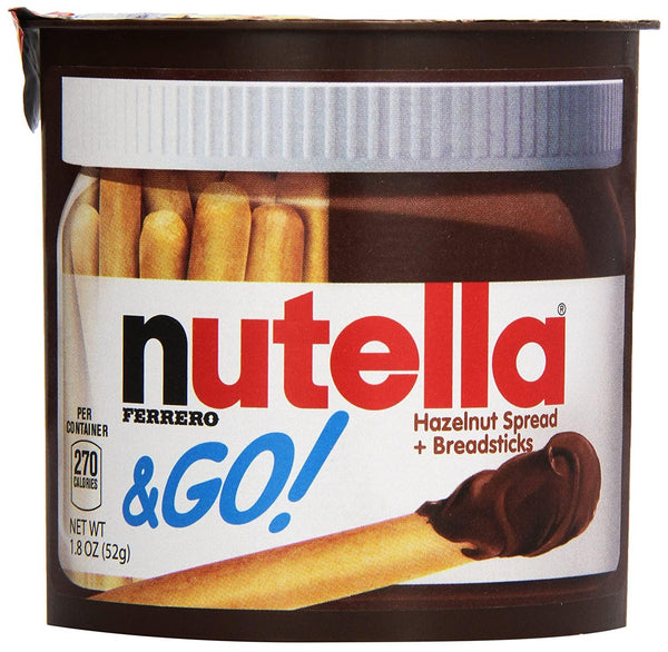 Nutella & Go Hazelnut Spread & Malted Bread Sticks, 52 Grams-Krave Bites