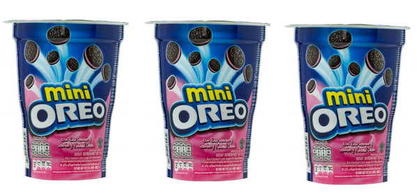 Oreo Mini Strawberry Flavoured Cream Biscuit Cup 67g (Pack of 3)