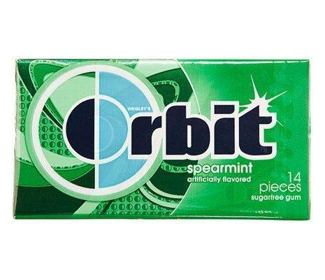 Orbit Spearmint Gum 14 Pieces, 33 g-Krave Bites