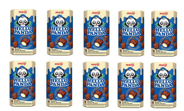 Meiji Hello Panda Cookies and Cream Biscuits 50gm (PACK 10)