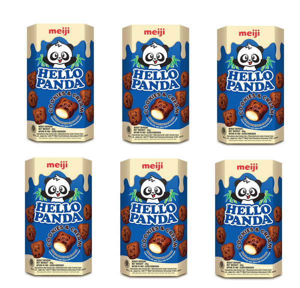 Meiji Hello Panda Cookies and Cream Biscuits 50gm (PACK 6)