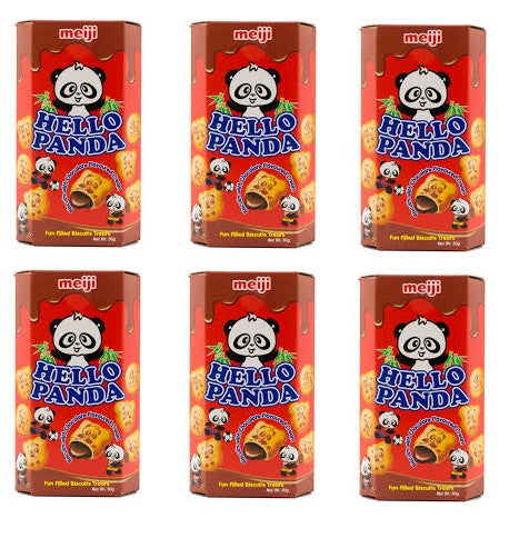 Meiji Hello Panda Imported Chocolate Biscuits 50gm (Pack Of 6)
