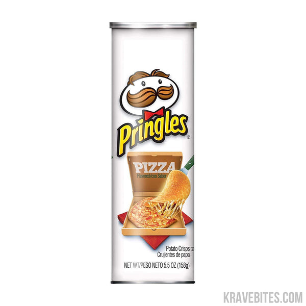 Pringles Pizza Potato Chips, 158g (Pack of 2)-Chips-Krave Bites-Krave Bites