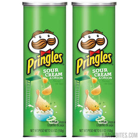 Pringles Sour Cream & Onion Potato Chips, 158g (Pack of 2)