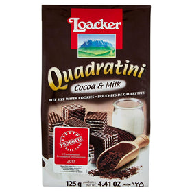 Loacker Quadratini Cocoa & Milk Wafer 125g