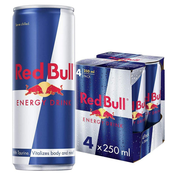 Red Bull Energy Drink Imported (250 ml) Pack Of 4-Krave Bites