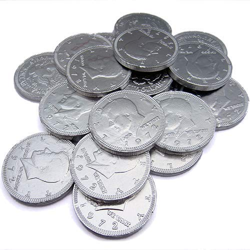 Silver Chocolate Coin Candy (60 Pieces, 210 g)