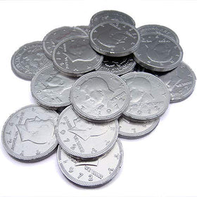 Chocolate Silver Coins 120 pcs (Imported)