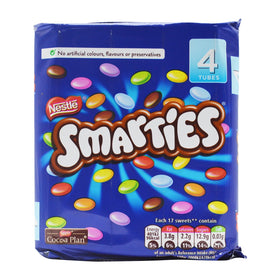 Nestle Smarties 4 Tube Pack Imported, 152 g